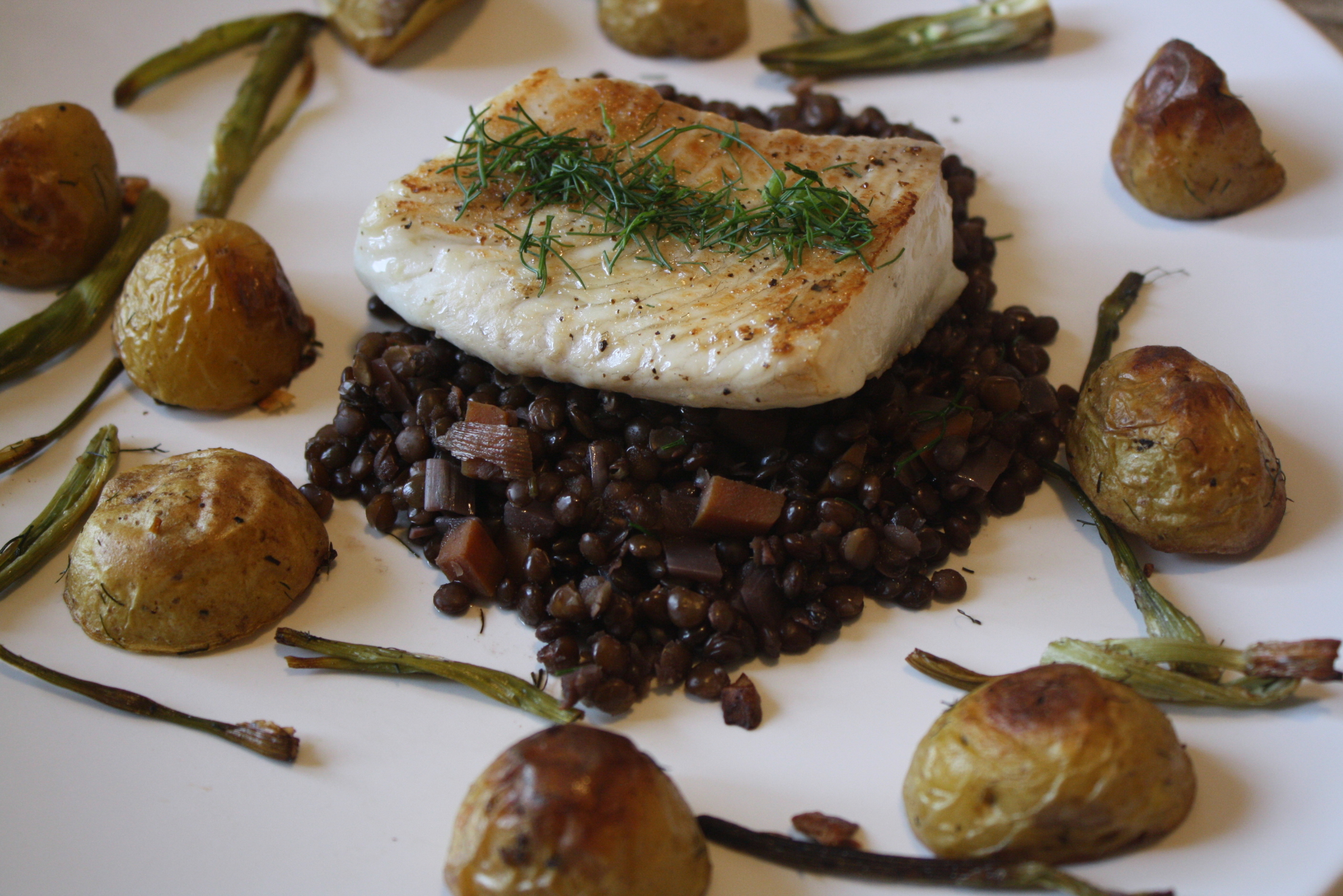 images Braised Lentils and Roast Pork Loin (The Perfect Winter Meal)